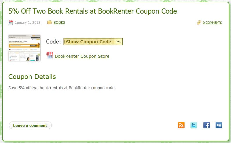 BOOKRENTER COUPON STORE